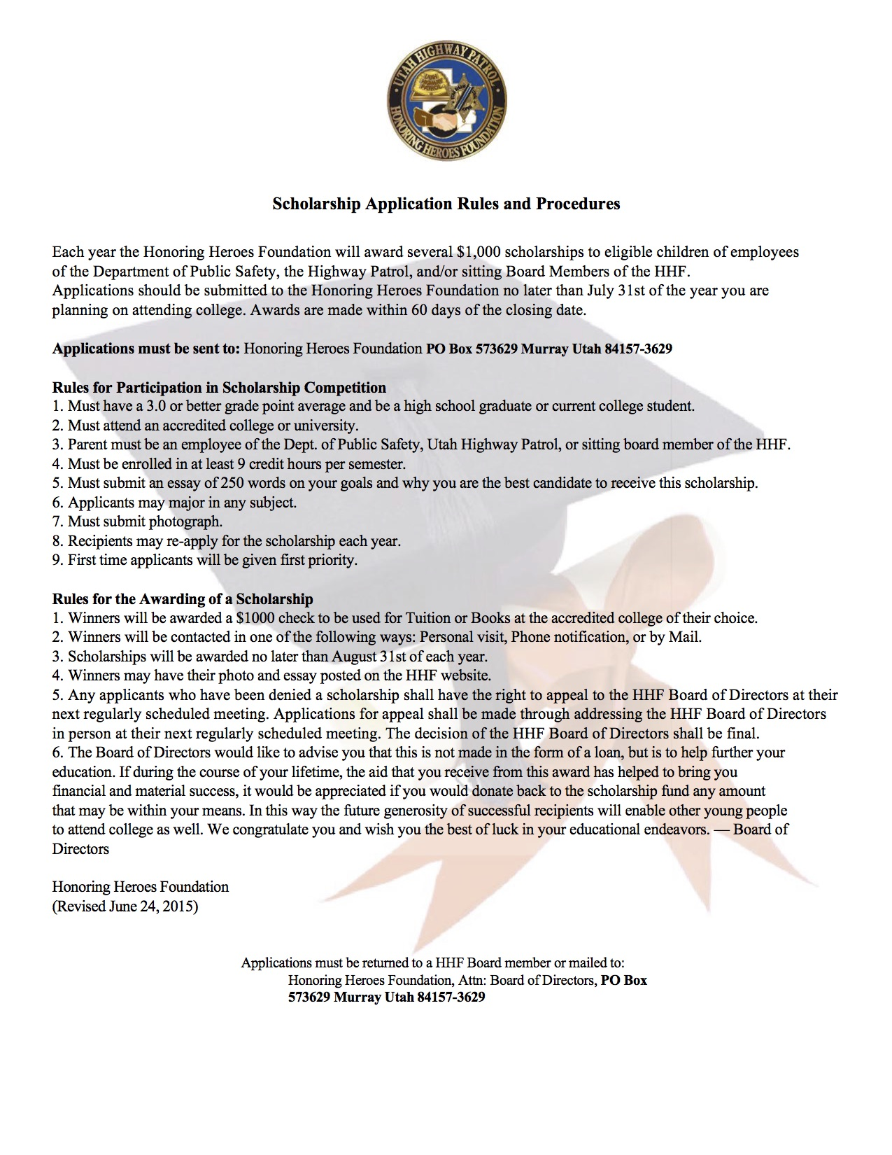 HHFScholarship Rules_1 2
